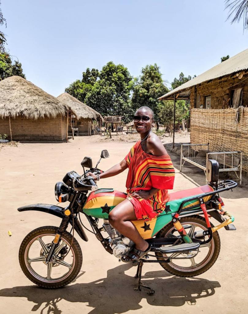 Jessica Nabongo in Guinea-Bissau. Photo Credit: ©Jessica Nabongo via Instagram.