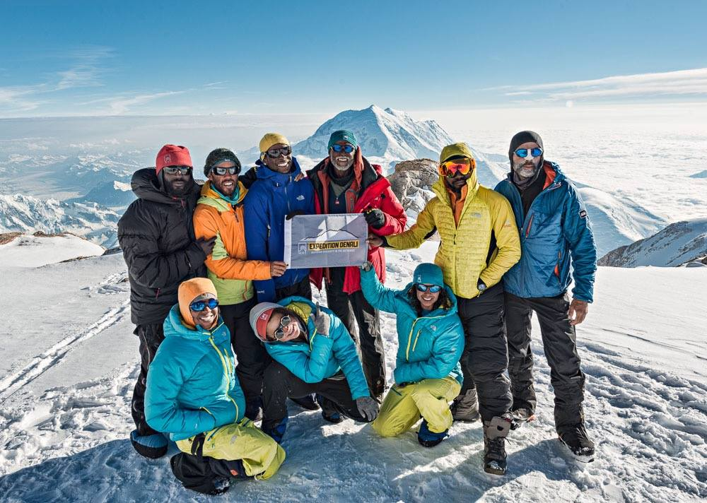 Team of African American climbers in 2013, part of Expedition Denali. Photo Credit: © Expedition Denali.